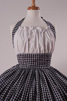 Gingham Dress Retro Halter Dress Pinup Dress Pin by CherryTiki