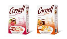 Cornell oatmeal and flakes packaging design by Lena McCoder, via Behance Oatmeal Brands, Cereal Packaging, Tetra Pak, Cereal Bars, Flakes, Creative Design, Packaging Design, Branding, Graphic Design