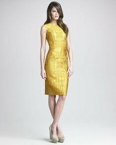 Vera Wang Vault Brocade Sheath Dress