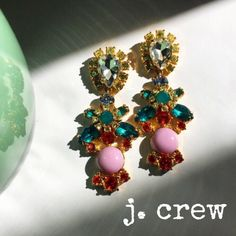 ⚡️FLASH SALE! ⚡️J Crew crystal statement earrings New, haven't worn them. Comes with J Crew gift box and jewelry pouch. Gorgeous and so colorful - these are crystal dangle earrings with post backing. Quite a statement! PLEASE ASK QUESTIONS BEFORE PURCHASING - THANK YOU J. Crew Jewelry Earrings