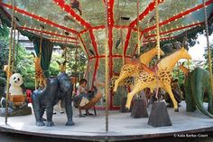 The famous Dodo Manège of Jardin des Plantes, featuring extinct or soon-to-be extinct animals