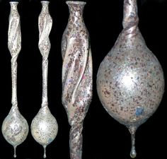 extremely unusual large glass roman tear bottles Rome  More @ FOSTERGINGER At Pinterest