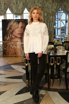 Clemence Poesy – Chloe Love Story Fragrance Launch in NYC