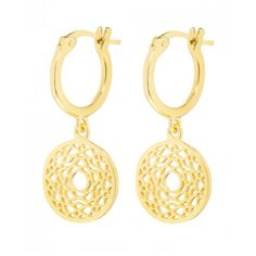 Daisy Gold Plated Crown Chakra Drop Earrings