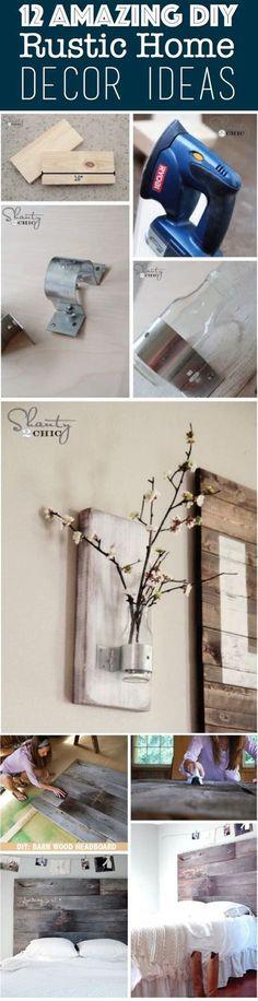 12 amazing diy rustic home decor ideas – cute diy projects. Cute Diy Projects, Diy Home Decor Projects, Decor Crafts, Decor Ideas, Easy Decorations, Decorating Ideas, Backyard Projects, 31 Ideas, Easy Crafts