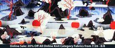 20% Off All Online Knit Category Fabrics! 7/26 8/8 https://www.britexfabrics.com/fabric/knit-fabric.html