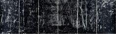 Jan Hendrix. Screenprint on silver leaf.