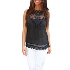 Feitong Women Summer Tank Lace Hollow Tops T Shirt 2016 Fashion Cotton Bend Sleeveless Casual Tops Tank blusa de renda feminino Harajuku, Lace Tops, Lace Blouses, Cheap Blouses, Shirt Blouses, Casual Tops, Trendy Tops, Casual Shirts, Blouses For Women