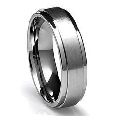 Mens 14K White Gold Wedding Band Ring 6MM Wide Sizes 4-12 Free Engraving New