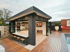 The Sole Method To Use For Patio And Outdoor Gazebo Design Ideas Uncovered 16 - homesuka Modern Outdoor Kitchen, Backyard Kitchen, Kitchen Rustic, Outdoor Kitchens, Kitchen Ideas, Kitchen Decor, Bar Kitchen, Outdoor Cooking, Backyard Gazebo
