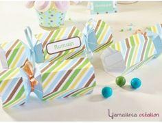 Offrez à vos invités des boites en forme de bonbon  { Kit Candy pour garçon }
