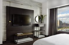 Guest Room At Marriott Brooklyn Bridge Designed By New York Based Boutique Interior Design Firm