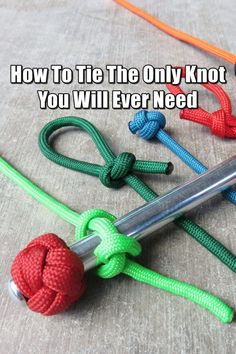 How To Tie the Ultimate, All-Purpose Knot - The knot creates a loop of rope that can be used to secure a tent, make a snare, or for any of a thousand other purposes.