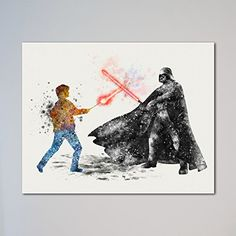 """Star Wars Harry Potter vs Darth Vader 11"""" x 14"""" Print * Details can be found by clicking on the image."""