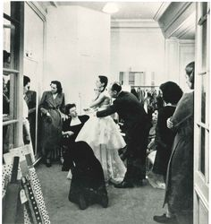 Fitting session in the presence of Monsieur Dior, 1947. Discover more on www.dior.com