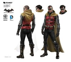 New Batman: Arkham Knight Concept Art Unveils Damian Wayne, Jim Lee And Several New Batman Skins