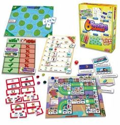 Children will love reading words and completing each activity to win the game with this 6 reading games box set. This value pack of games contains 2 board games, 2 matching games, 10 word puzzles, 8 sentence puzzles, die and counters. Learning To Read Games, Reading Games, Learning Toys, Teaching Reading, Reading Comprehension Skills, Reading Skills, Reading Words, Early Reading, Teacher Supplies