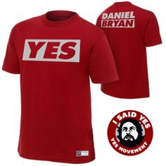 Join the YES Movement with this Daniel Bryan T-Shirt! - Each shirt comes with a FREE YES Movement Sticker!