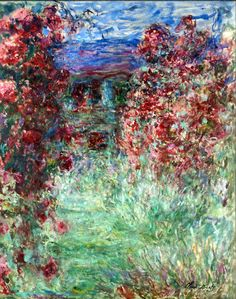Claude Monet (French Impressionist, 1840-1926) ~ 'Roses'
