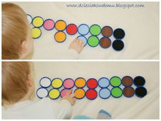 memory colors, fun colors with children, creative memory of the nuts on the bottles