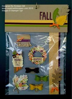 Fall Card Candy using Vintage leaves and Wonderous Wreath Bundles and Baby Wipe technique #Stampinup #Fall #CardCandy #creatinwithkirsteen