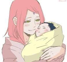 Resultado de imagen para dibujo de kishimoto de la familia de sarada