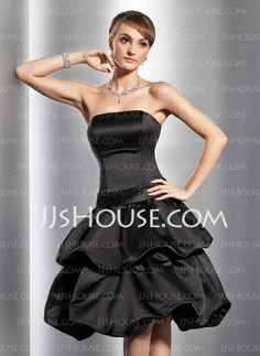 Homecoming Dresses - $97.49 - A-Line/Princess Strapless Knee-Length Satin Homecoming Dress With Ruffle (022014780) http://jjshouse.com/A-Line-Princess-Strapless-Knee-Length-Satin-Homecoming-Dress-With-Ruffle-022014780-g14780