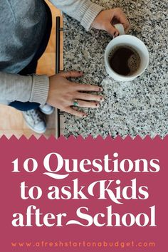 10 questions to ask kids after school. To help strengthen the bond between parents and children. With back to school time happening it's a great reminder for us all to open up communication with are kids.