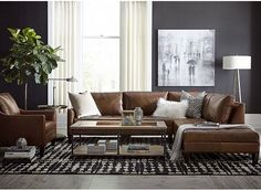 Modern leather living room furniture ideas – Home decoration ideas and garde ideas Small Space Living Room, Living Room Grey, Living Room Decor, Small Spaces, Small Living, Modern Living, Modern Room, Masculine Living Rooms, Leather Living Room Furniture