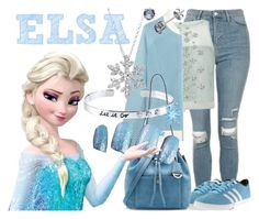 """Elsa"" by janastasiagg ❤ liked on Polyvore featuring Topshop, Coast, Perfect Moment, Belk Silverworks, adidas, MICHAEL Michael Kors, Disney, disney, disneybound and Disneyprincess"