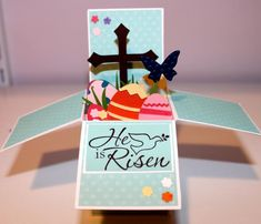 Easter Card in a Box by gails - Cards and Paper Crafts at Splitcoaststampers