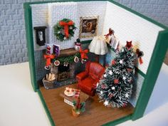 Christmas room in miniature