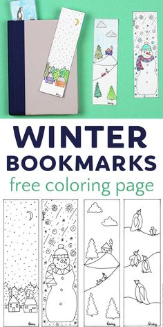 Cute winter bookmark coloring page. A free printable that makes a great read aloud activity for at home, in the classroom or at the library. Reading Club, Happy Reading, Winter Activities For Kids, Preschool Ideas, Craft Ideas, Teaching Kindergarten, Teaching Ideas, Read Aloud Books, Beginning Reading