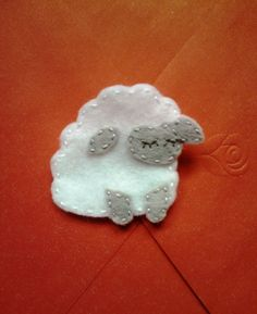 Felt Sheep Brooch / Pin by TheWoolyGoat on Etsy