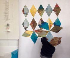 Thor rearranging our interactive wallpaper. by Ben Volta Studio