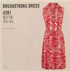 CAbi Size Larg Brushstroke Dress A/S Style #281 Spring 2015 Polyester NWT $118 #CAbi #SundressPleated #DressPleated #Dress #Sundress #WomensFashion