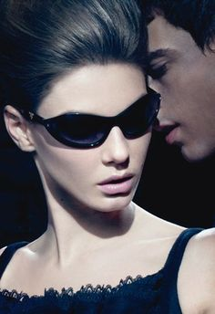 Prada Swing Sunglasses Collection   With Paris Fashion Week in full swing , images of beauty, glamour and jet-setting lifestyles are dominating the fashion landscape. But for the average working model, the fashion industry can mean a much darker reality by Steven Meinsel .