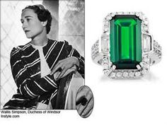 Wallis Simpson Engagement ring - she was married to King Edward who abdicated the title of King to marry her.