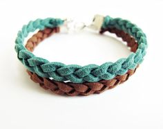 2 Braided Leather Bracelets - Choose Your Color on Etsy, $20.00