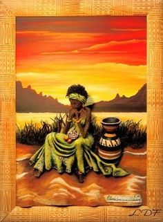 African Artwork, African Art Paintings, Black Women Art, Black Art, Africa Painting, Afrique Art, Art Africain, Art Corner, African American Art