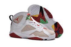 c4d7bb737353 Hot Air Jordan 7 (VII) Retro Women Shoes White Apricot Red  retrowomenshoes  Jordans
