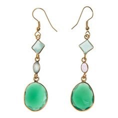 Handmade Goldplated Gemstone Earrings (India)