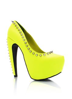 Spiky Yellow Shoes