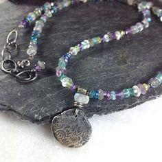 silver and semi-precious stone Relic necklace £78.00
