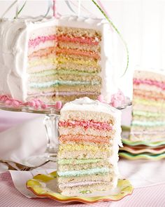 Maypole Layer Cake by Amanda Rettke of 'I Am Baker' Pretty Cakes, Beautiful Cakes, Amazing Cakes, Cupcakes, Cupcake Cakes, Cookie Cakes, Cookies, Just Desserts, Delicious Desserts
