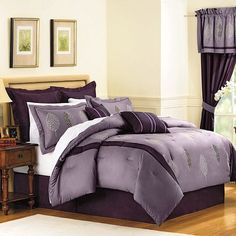 Royal Heritage Home Ardsley Queen Size Comforter Set Full Size Comforter Sets, King Size Comforters, Bed Comforter Sets, Bed Sets, Purple Comforter, Purple Bedding Sets, Purple Rooms, Lavender Bedding, Silk Bedding