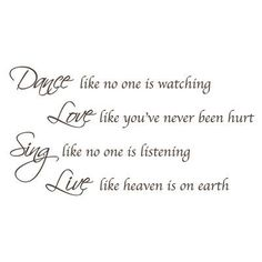 """The Decal Guru Dance, Sing, Love Wall Decal Size: 34"""" H x 65"""" W x 0.01"""" D, Color: Brown"""