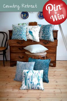 Teal Cushion Collection #Hillarys #PinToWin  All time and absolute favourite colour ever.