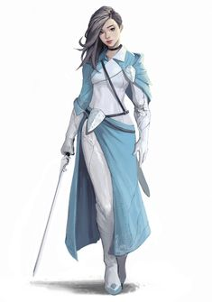 ArtStation – Blue Sky, Kyung Han Kim – Kostum Damen – - Sites new Fantasy Character Design, Character Design Inspiration, Character Concept, Character Art, Concept Art, Character Ideas, Character Creation, Writing Inspiration, Dnd Characters