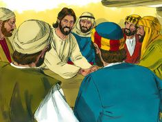 Free Bible images: Free Bible illustrations at Free Bible images of Jesus appearing to two disciples as they travel on the road to Emmaus, then His appearance to the disciples in a locked room. Jesus Stories, Bible Stories, John 20 19, Free Bible Images, Road To Emmaus, Luke 24, Bible Illustrations, God Jesus, Bible Lessons